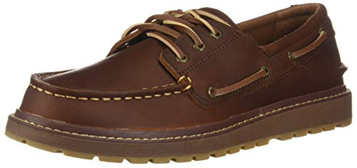Sperry Boys' AO Twisted Lug Boat Shoe, Dark Brown, 3 M US Little Kid