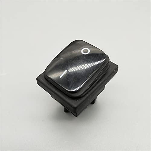 DLRSET Boton Interruptor Rocker, PC 1 KCD4 20A / 250V 4 Alfiler DPST IP67 Interruptor de rockero Impermeable Sellado con LED 12V 24V 110V 220V 3 0x22 (Color : Black, Size : 6 Pin)