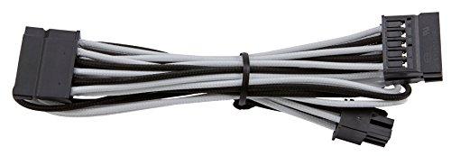 Corsair Internal Black Power Cable SATA, Female/Female, RMi series, RMx series, SF Series, Corsair Type 4 PSU, Bianco/Nero