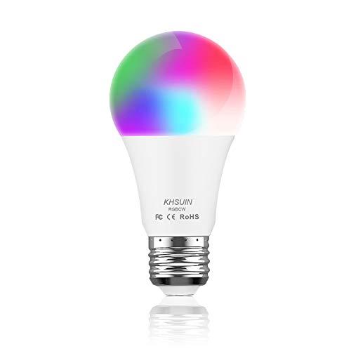 Smart LED Light Bulb - No Hub Required, Smart Bulb Compatible with Alexa Echo Dot, Google Home Mini & Samsung, KHSUIN LED Smart Light Bulbs 7W (80W)