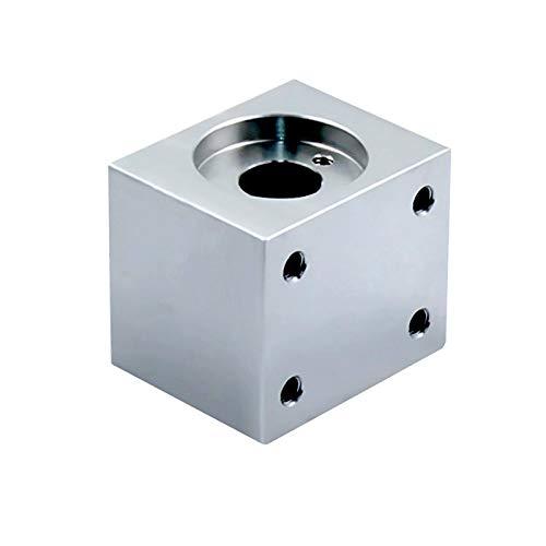 WITHOUT BRAND 1pc T8 Trapezspindel Gehäusehalter 3D-Druckerteile Trapezgewinde Conversion Mutter Sitz Aluminium-Block (Größe : Silber-)