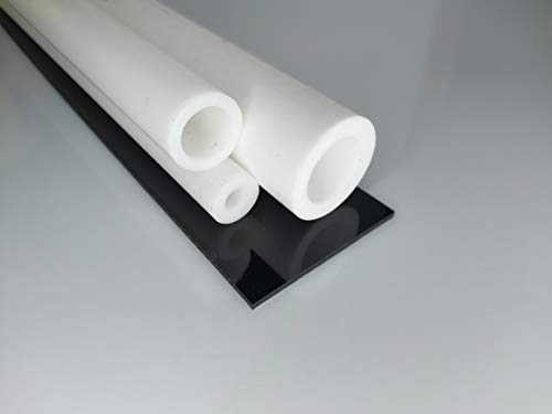 Hohlstab PTFE weiß Ø 20 * 10 mm, Lang 1000 mm Kunststoffrohr (Teflon) Rohr