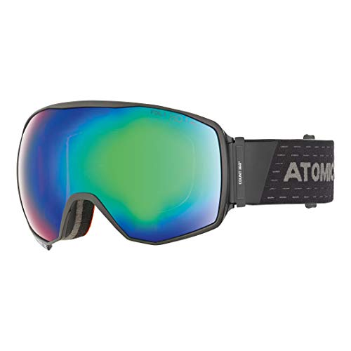 Atomic Unisex All Mountain-Skibrille Count 360° HD, für mäßiges bis starkes Licht, Large Fit, Sphärische FDL-Doppelscheibe, HD-Technologie, schwarz/grün HD, AN5105622
