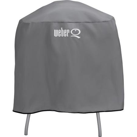Weber Q Full Lenght Vinyl Cover For Q Series Grill on Cart or Stand 6556
