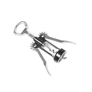Waiters Corkscrew Wine Bottle Opener (Winged Style) Manual, Handheld Design | Stainless Steel | Opens Champagne & Cork Top Beverages | Dishwasher Safe