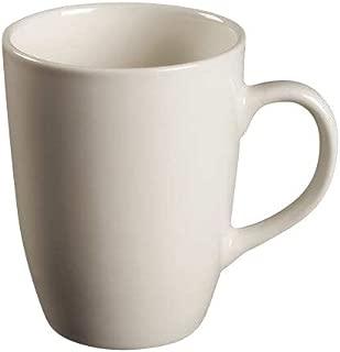 Thomson Pottery Quadro White Dinner Mugs, Set of 8
