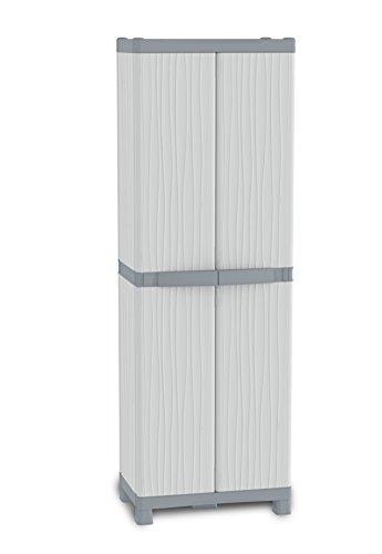 TERRY Vertical 210R UW Armadio Alto in Plastica XL Tuttopiani, Grigio, 70 x 43.8 x 210 cm