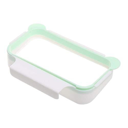 Topbathy - Soporte para bolsa de basura colgante, cesta soporte para inundación, bolsa de almacenamiento para armario de cocina, cajón para contenedor de basura (gris)