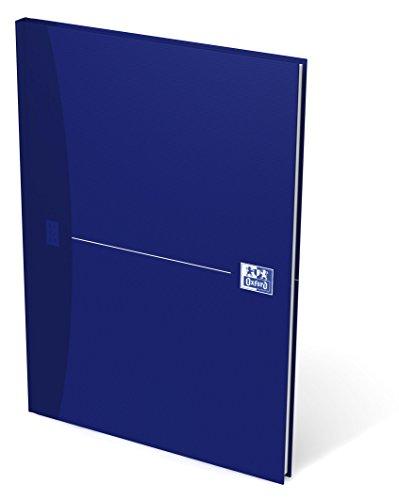 OXFORD Gebundenes Buch A4 liniert 96 Blatt mit abtrennbaren Ecken blau Geschäftsbuch Tagebuch Kladde Journal Skizzenbuch