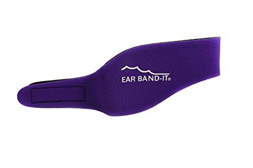 Ear Band-It Diadema Schwimmen (erfunden von einem Arzt) behält Wasser, vorbehaltlich die Stecker Ohren (sicher) die Stecker Ohren Klein (Alter 1-3) Lila