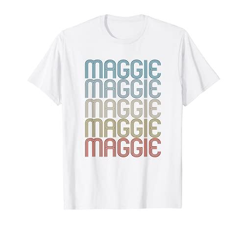Maggie Primer Nombre Vintage Retro Camiseta
