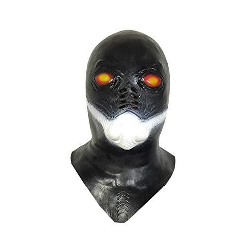 JGBHPNYX Alien Gas Masker Gevormd Zuurstof Masker Horror Halloween Bar Latex Hood