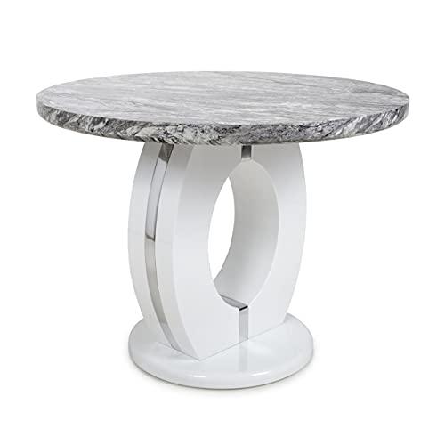 Shankar Neptune Round Marble Effect Dining Table
