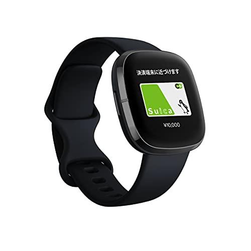Fitbit Sense GPS搭載 スマートウォッチ Carbon/Graphite カーボン/グラファイト L/S サイズ [日本正規品]