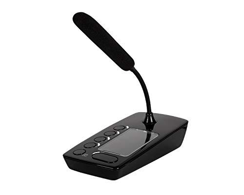 RCF BM 404 - Micrófono de paginación de escritorio para amplificador de música de negocios DMA