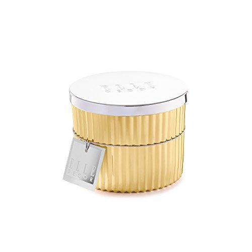 Elle Collection gefüllt Kerze mit Metall lid-sea Salz und Freesien, Gold