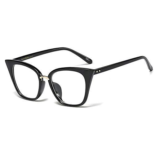 HZWL A Forma di Occhi Occhiali da Lettura HD Anti-Blu Luce alla Moda Nuovo Gatto Occhiali da Lettura per Uomini E Donne - Diottrie C3 Bright Black- + 2.0