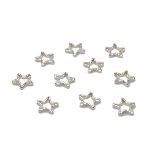 Nina 星 枠 チャーム 【8mm シルバー20個セット】 アクセサリーパーツ ネックレス ピアス モチーフレジンパーツ