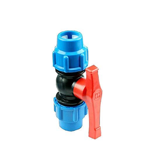 Conector de válvula, 25mm de válvula de parada conector de válvula, para Hdpe tubo de agua compresión ajuste valor grifo, 2