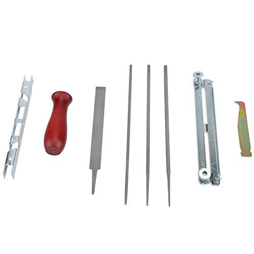 Kit de herramientas para afilar motosierra 8 piezas / juego limas para motosierra calibre de profundidad sierra de cadena lima plana calibre de profundidad guía de archivo soporte para afilar