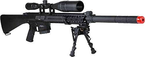 Evike G&G Top Tech GR25 Full Metal Airsoft AEG Sniper Rifle w/Front-End Device - (Package: Add 8.4v 1600mAh Battery + Charger + BBS)