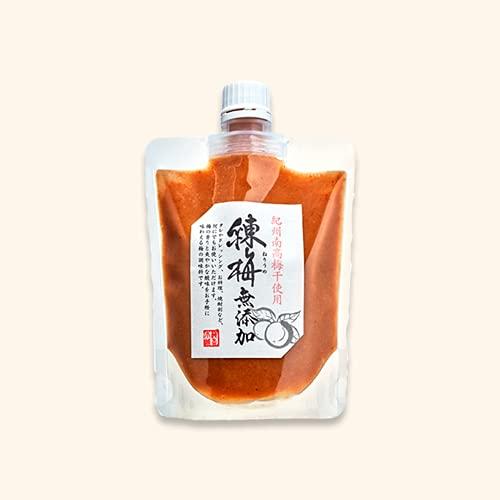 紀州練梅(無添加) 180g 塩分20% 【 紀州南高梅干 使用 】練り梅・ねり梅・梅肉