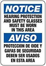 Vivityobert Gehörschutz Warnschilder Metall Gefahrenhinweis Hinweisschild Gefahrenschild für Eigentum Hausdeko Hofschild 20,3 x 30,5 cm