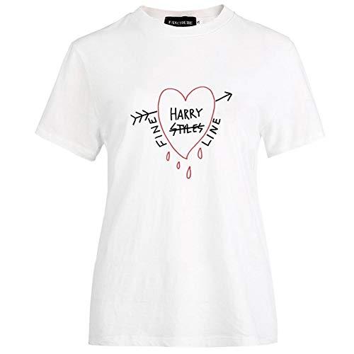 changping Fashion Harry Styles - Camiseta de manga corta con estampado de cuello redondo, diseño de Harry Styles