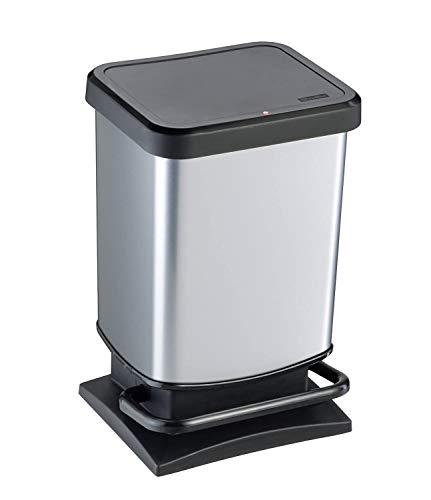 Rotho Paso - Contenedor de basura ermético a olores, con