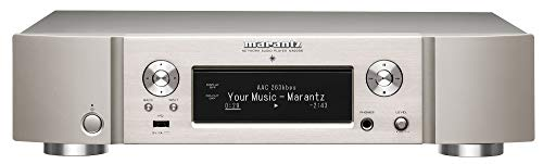 Marantz NA6006 Netzwerk-Audioplayer (WLAN, HEOS, Multiroom, Musikstreaming, Internetradio, Bluetooth, Hi-Res Audio, AirPlay 2, HDAM, optischer Digitaleingang, analoge Ausgänge) Silber-Gold