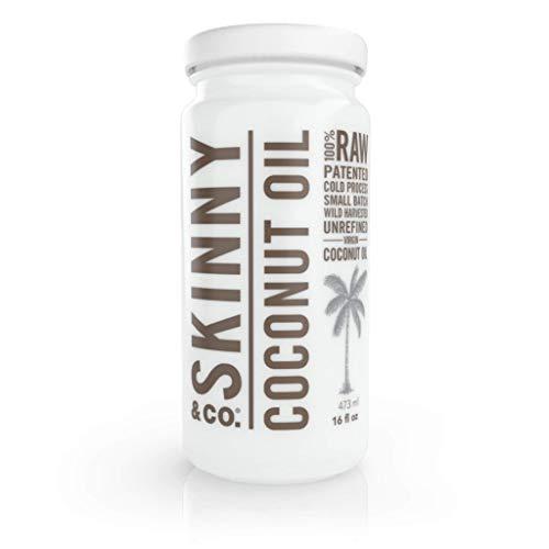 SKINNY & CO. Coconut Oil -100% Raw & Pure Virgin Coconut Oil (16...