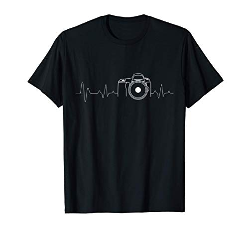 Photographer T-Shirt Gift Idea HeartBeat Photography Camera T-Shirt