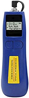 Qiirun Mini Fiber Tester Optical Power Meter for Testing 850/1300/1310/1490/1550/1625nm, Small and Light Weighted with 100 Hours Continuous Working