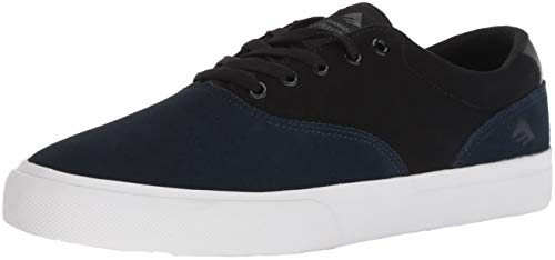 Emerica Provost Slim Vulc Skate Shoe,Blue/Black/White,5 Medium US