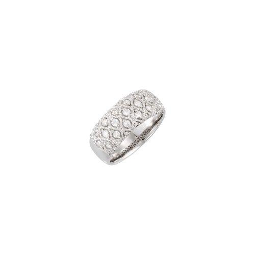 14ct de oro blanco anillo de diamantes en bruto 1/2ct - JewelryWeb