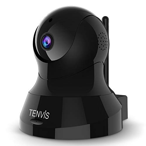TENVIS 1080P Security Camera - Wireless Camera, IP Camera with Night Vision, 2-Way Audio, 2.4Ghz WiFi Indoor Home Dome Camera for Pet Baby, Remote Surveillance Monitor with Phone App (Black)