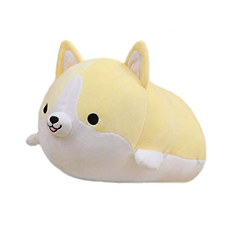 LAIYIFA Plush Toys for 3+ Year Old Cute Shiba Inu Doll Pillow Soft Waist Cushion Plush Stuffed Toy Birthday Gift for Boys Girls 3 4 5 6 7 8 9 Years Old, Home Decoration Yellow