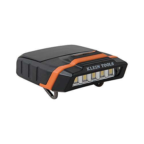 Klein Tools 56402 LED Light, Cap Visor Clip Light with Pivoting Head, 2 x AAA Batteries Included