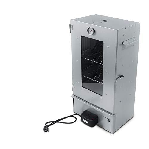 Activa Räucherofen elektrisch 2000 Watt elektronisch Hochwertiger Räucherofen Elektro Räucherschrank Räucherkammer Elektrischer Smoker Tragbarer Smoker ca. 80 cm Perfekt zum Räuchern inklusive Zubehör