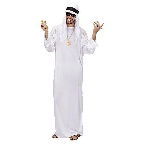 WIDMANN Sceicco Arabo Tunica Copricapo Costumi Completo Adulto Party E Carnevale 563, M