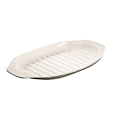 BBQ Passion Kebob Platter by Villeroy & Boch - Premium Porcelain - Made in Germany - Dishwasher and Microwave Safe - 16.5 x 8.5 Inches