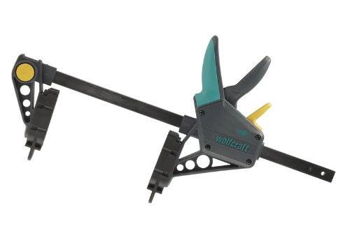 wolfcraft Montagezwinge 6985000 – Zwinge für den Terrassenbau – Distanzhalter für den Bau einer Holzterrasse – Spannkraft: 120 kg – Spannweite: 450 mm