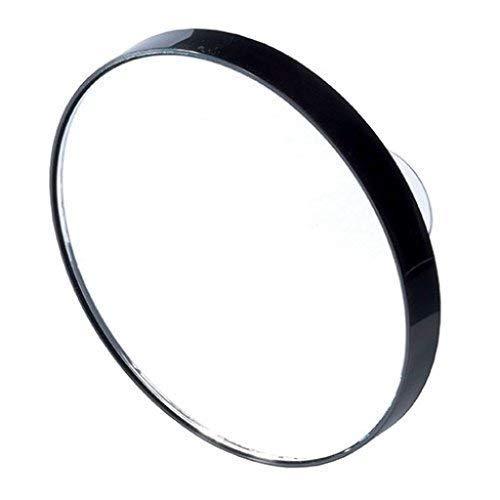 petit Miroir grossissant noir à ventouses X5 Diam 7,3cm sac main,salle de bain