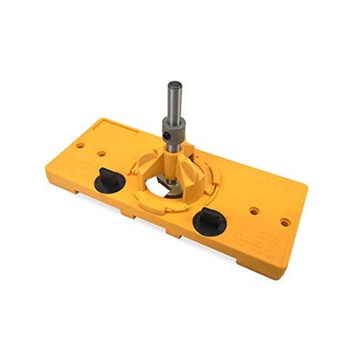 Cómodo 35MM Copa Estilo Bisagra Jig Boring Agujero de perforación Guía bit Cortador de Madera del Carpintero carpintería Herramientas de Bricolaje Fuerte (Color : Yellow)