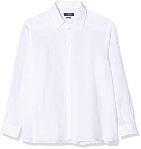 Trussardi Jeans Shirt Italian Collar Yarn Dyed Camicia Casual, Bianco (White...