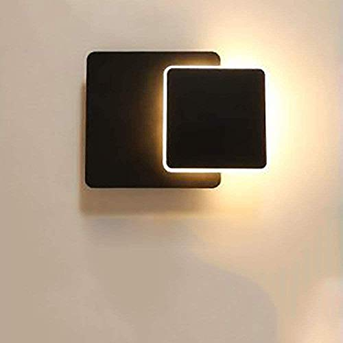 Modern muur licht, energie wandlamp LED Blaker Up Down Wandlamp Aluminium Creative LED Wall Lamp 8W Plein Matt Black Wall Light, warm licht, Kleur: Warm Licht (Color : Warm Light)