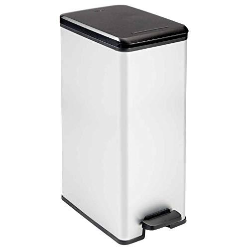 Curver Deco Slim Rubbish bin, 40 l, Silver
