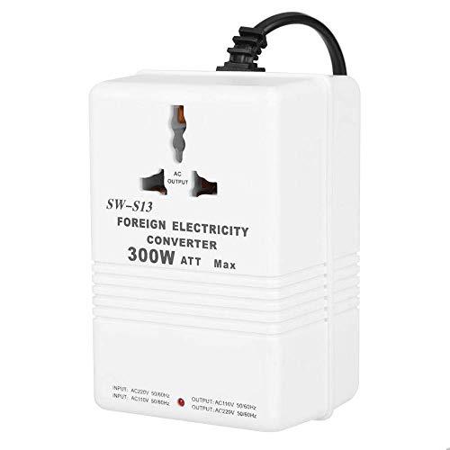 Convertidor de Voltaje, SW-S13 Transformador Convertidor de Voltaje Ascendente y Descendente de 300 W de 220 a 110 V y de 220V a 110 V