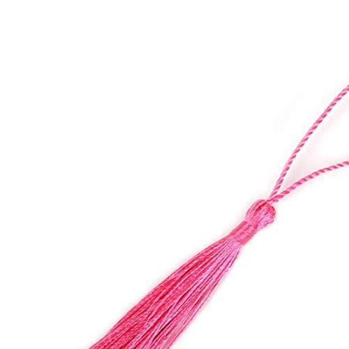 32 stks/partij polyester zijde kwastje versieringen 13 cm katoen kwastje voor thuis bruiloft decoratie diy naaien gordijnen accessoires, licht fuchsia