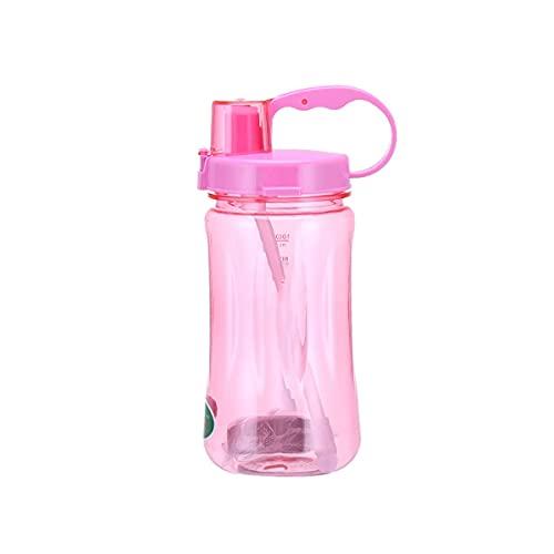 Mosako - Botella de agua deportiva de plástico reutilizable, sin BPA, antifugas, para niños y adultos, apta para senderismo, color rojo